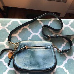 Marc Jacobs teal crossbody purse